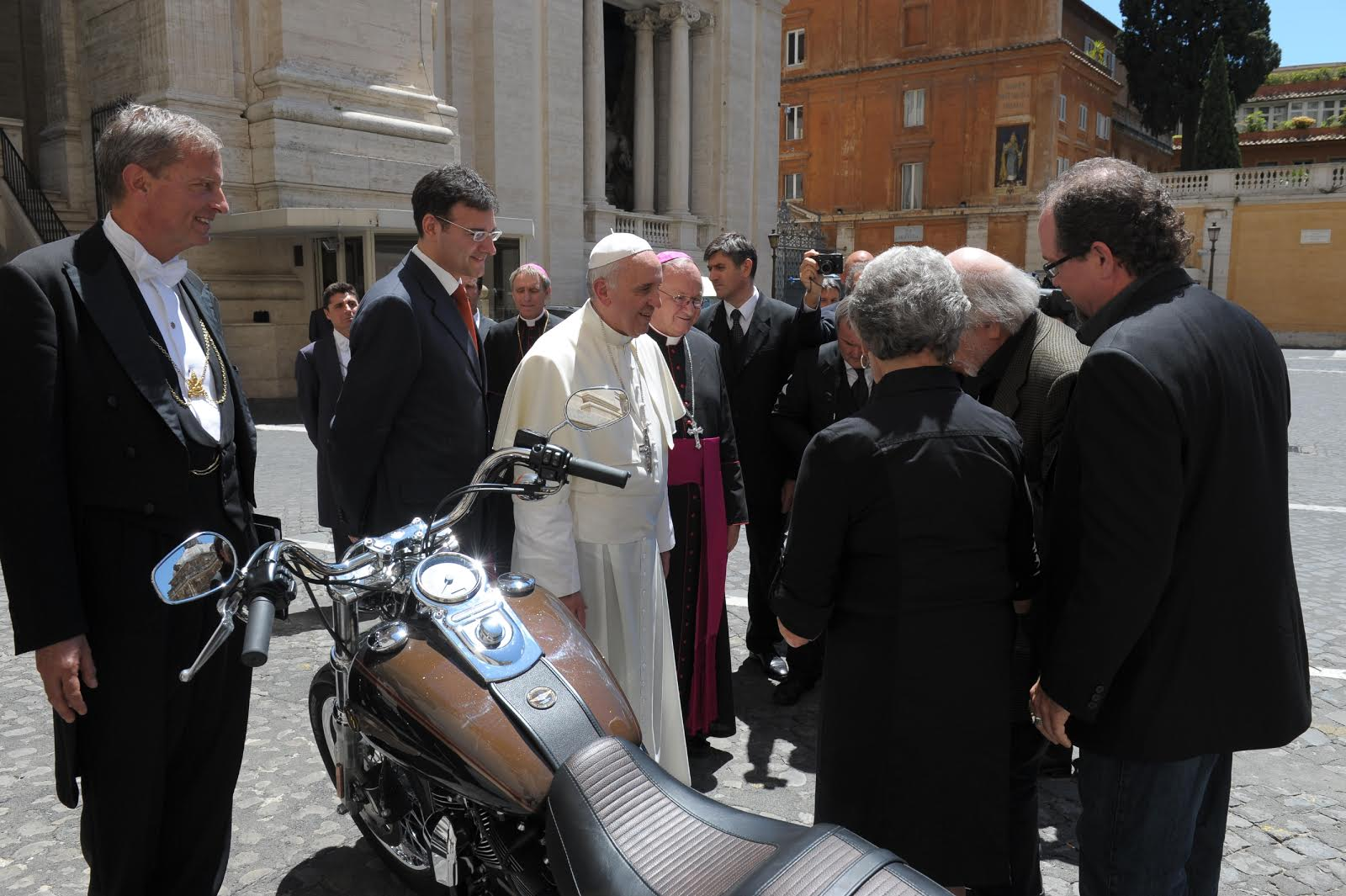 The Pope's Harley is on the Auction Block