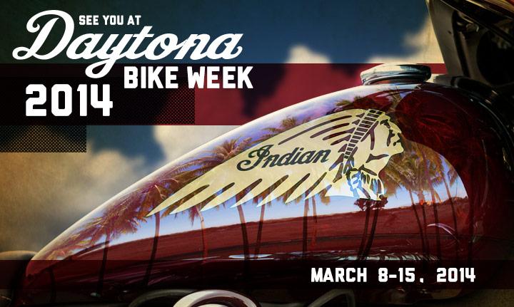 Indian Motorcycles at Daytona Bikeweek