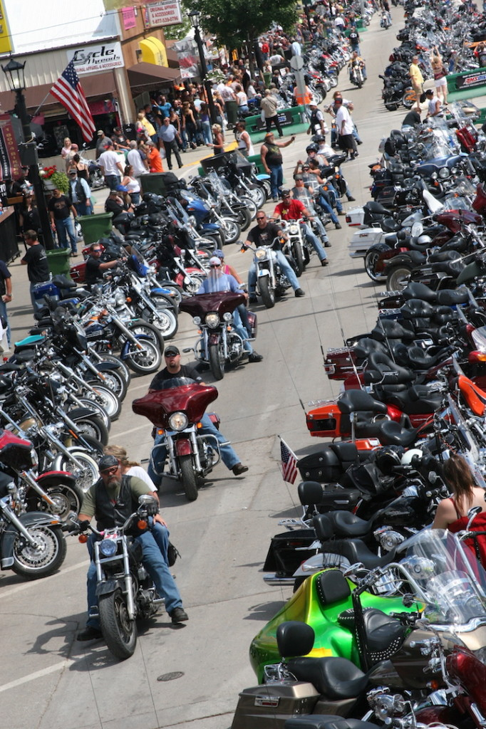 For many riders who go to Sturgis, the Rally looks like this: