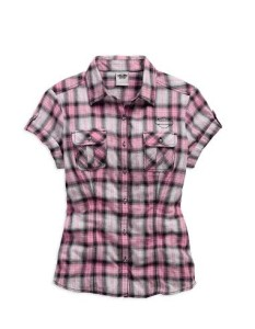 Women's Plaid Pink Label Plaid shirt