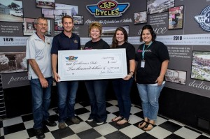 $2,000 check to Gentleman's Ride