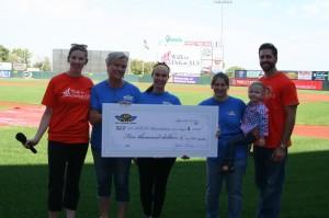 $5,000 check to ALS Association