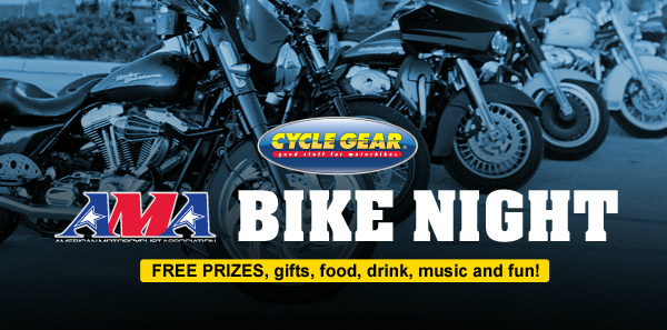 AMA Bike Nights At Cycle Gear During AMA Go Ride! Month