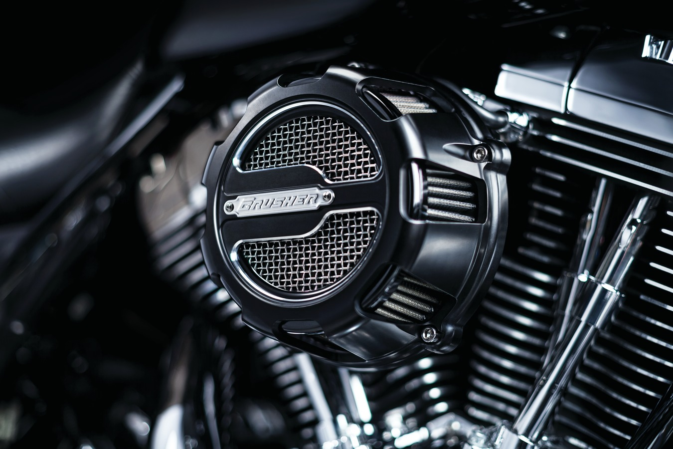 crusher maverick air cleaner for harley davidsons now available. Black Bedroom Furniture Sets. Home Design Ideas
