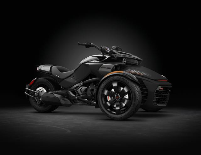 2016 Spyder F3-S Special Series Monolith Black Satin_3-4 front