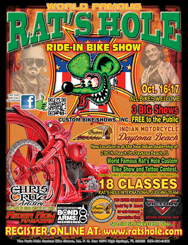 Daytona Biketoberfest 2015 Rats Hole Custom Bike & Chopper Show