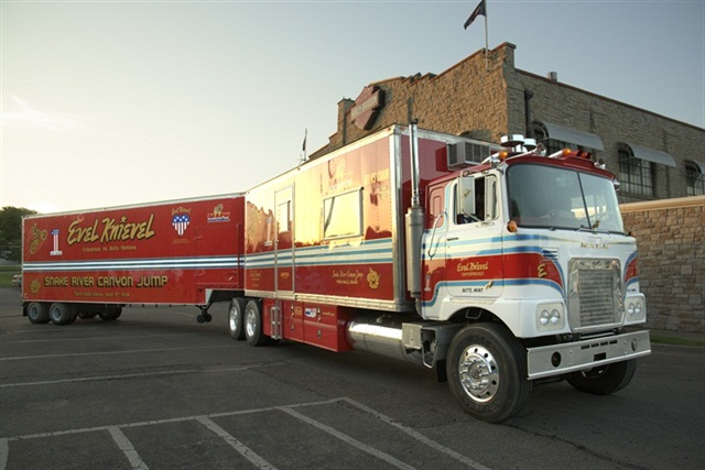 Evel Knievel Show Truck on Display for the Holidays