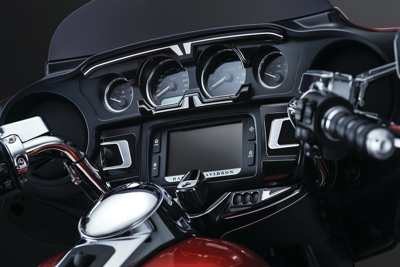 Bahn Gauge Accents for H-D Batwing Fairings