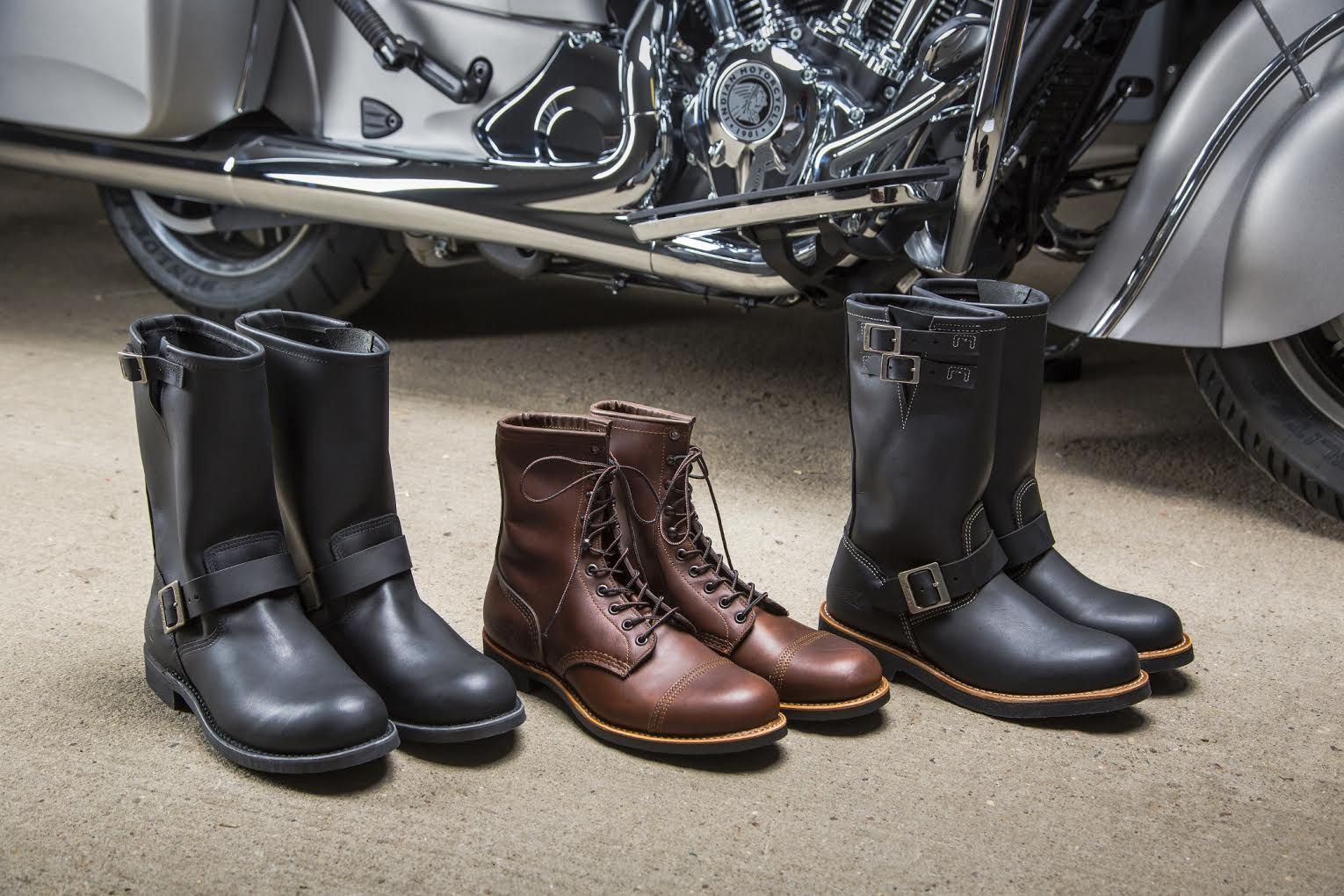 INDIAN MOTORCYCLE® AND RED WING SHOES® HANDCRAFTED AMERICAN MOTORCYCLE BOOTS