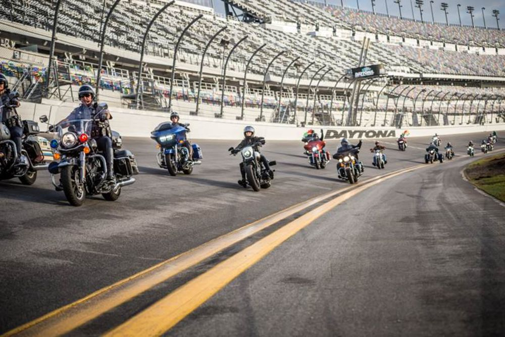 HARLEY-DAVIDSON LEADS CONVOY OF FIRST RESPONDERS AND MILITARY PERSONNEL AROUND DAYTONA INTERNATIONAL SPEEDWAY