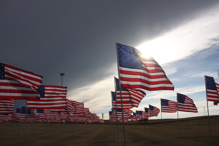 Buffalo Chip Family and Friends Place Field of Flags