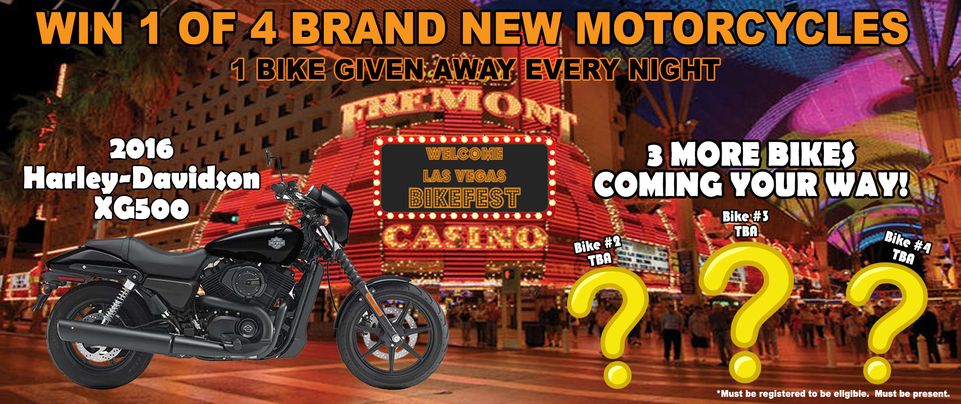 Las Vegas BikeFest Second Bike Giveaway Announcement