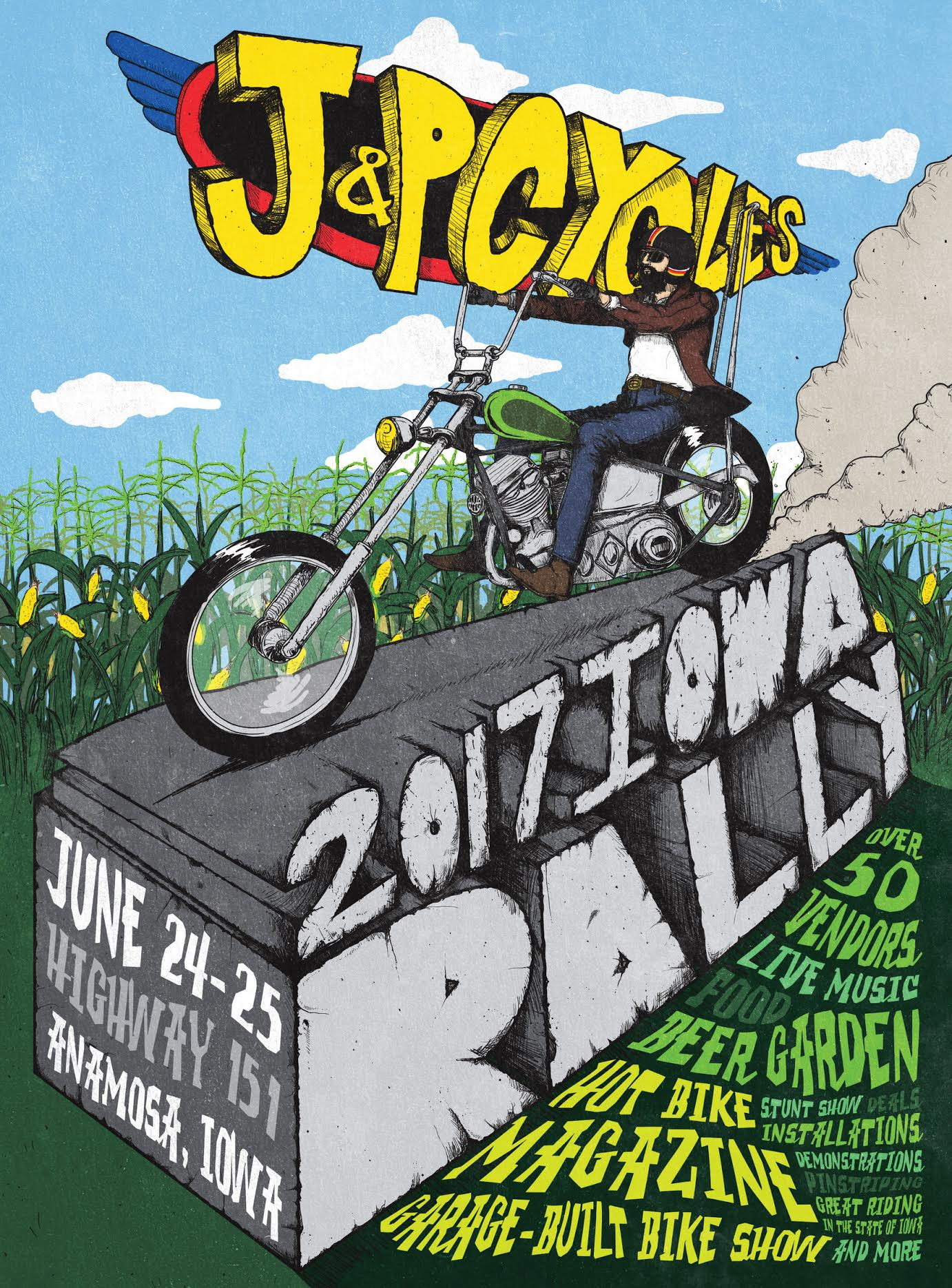 J&P Cycles Iowa Rally: Bigger, Bolder and Host to 2017 National Garage Build-Off Competition