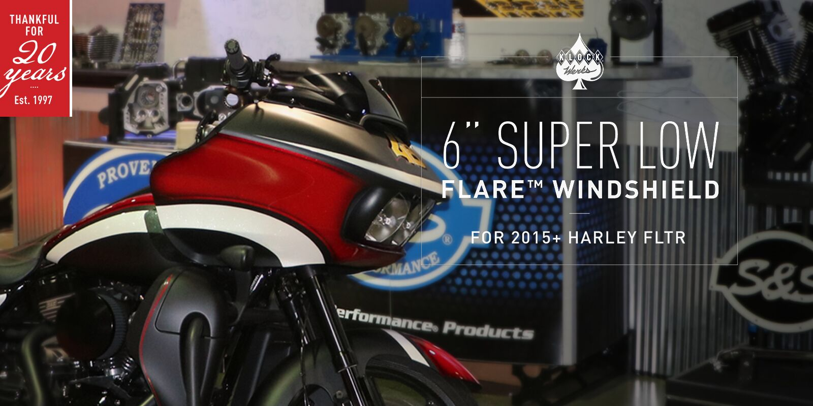 "6"" SUPER LOW FLARE™ FOR 2015+ HARLEY ROAD GLIDE"