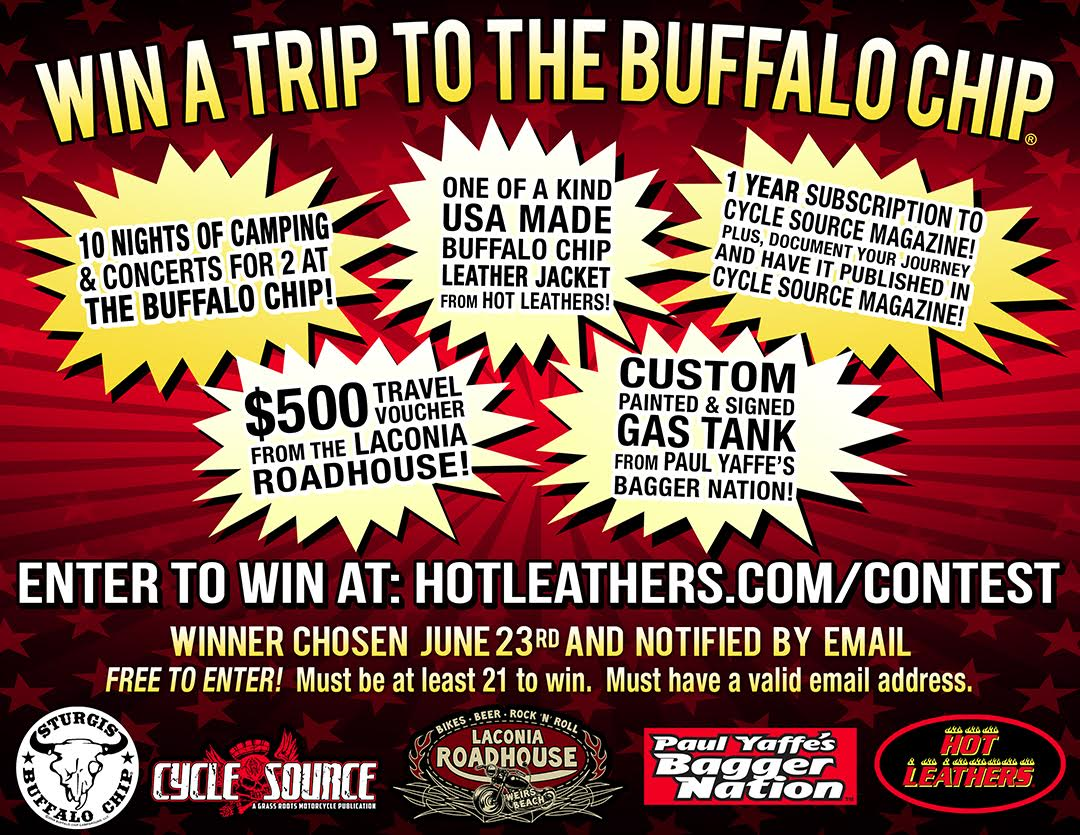 "Buffalo Chip Hot Leathers' ""Win a Trip to the Buffalo Chip Contest"" for Sturgis 2017"