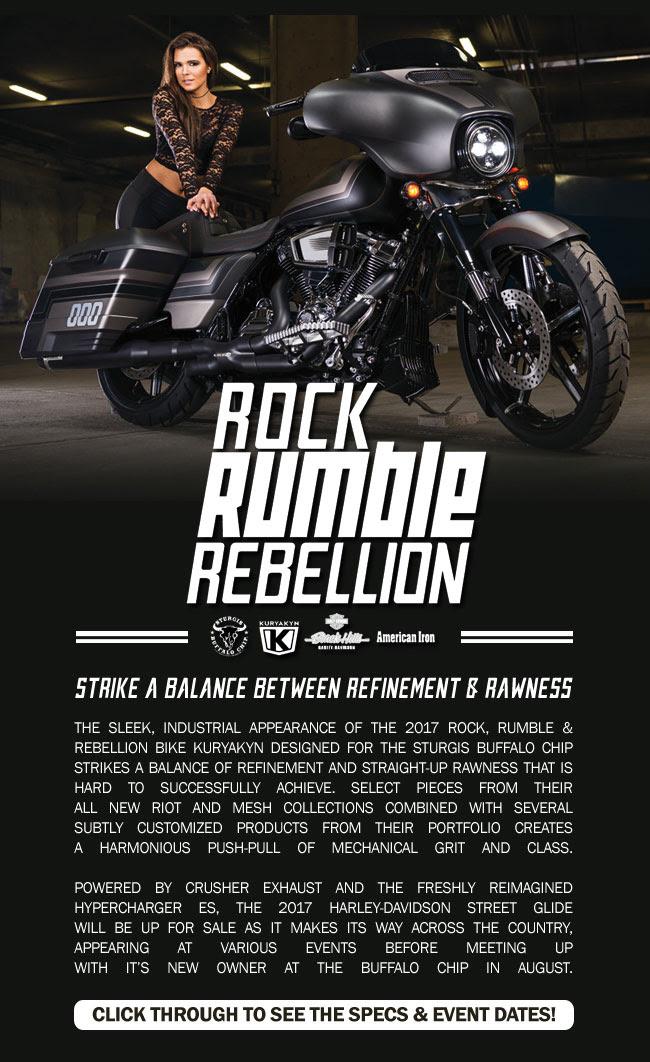 See the 2017 Rock, Rumble & Rebellion motorcycle designed by Kuryakyn!
