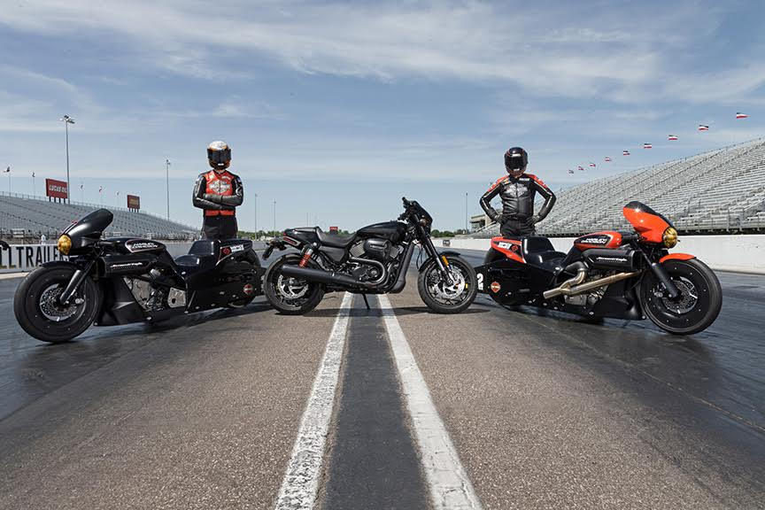 NEW HARLEY-DAVIDSON STREET ROD DRAG BIKES READY TO RACE AT ENGLISHTOWN