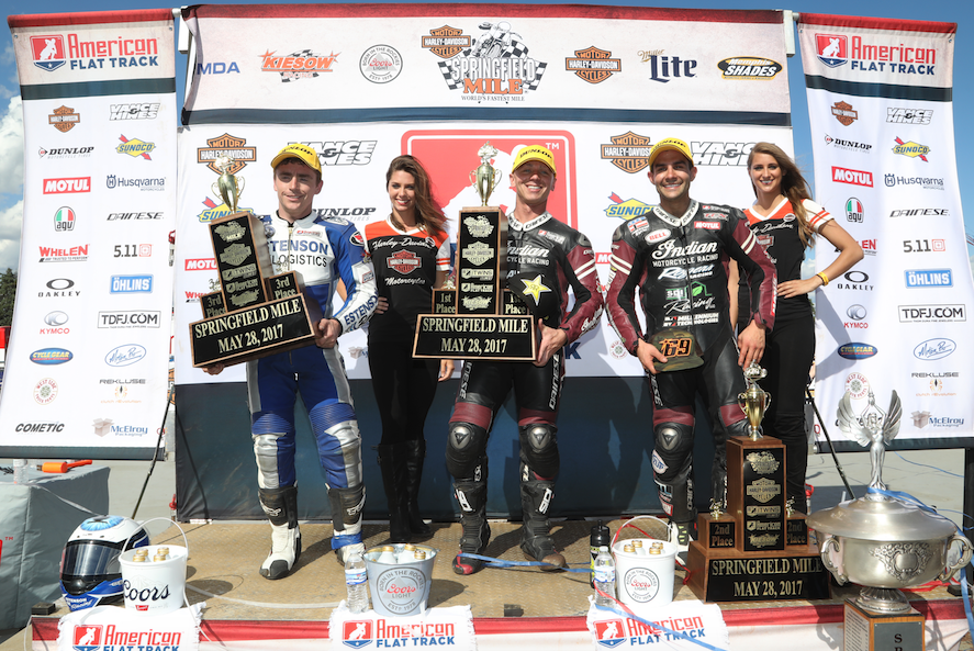 INDIAN MOTORCYCLE RACING REMAINS UNDEFEATED WITH '1-2' FINISH AT SPRINGFIELD MILE