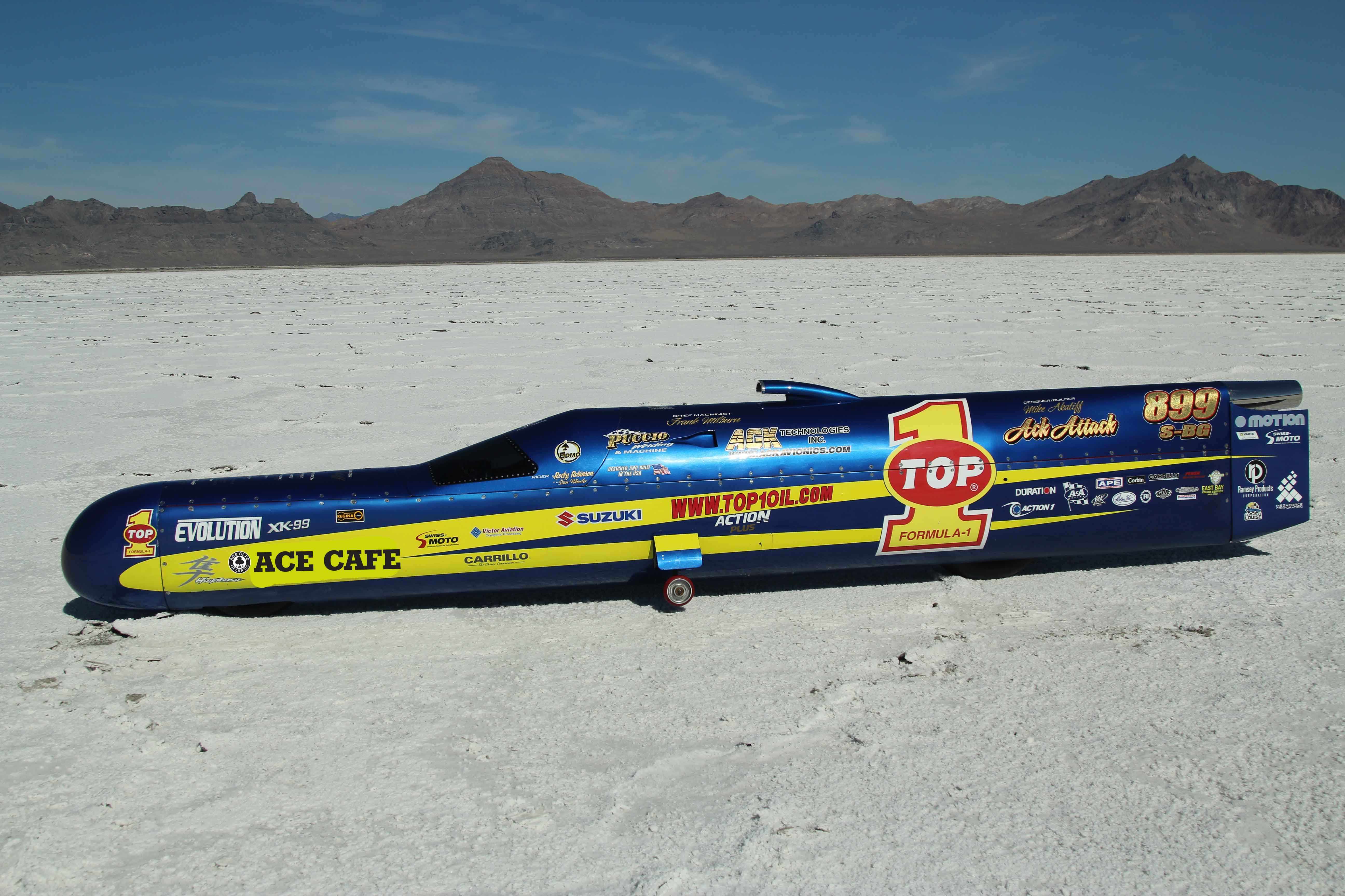 Ace Cafe Orlando Onboard TOP 1 ACK ATTACK  For 400 mph LSR Ride