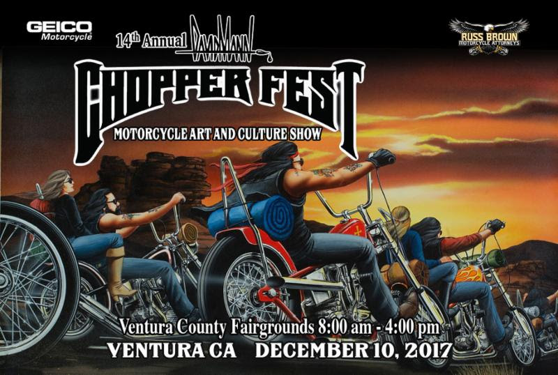 David Mann ChopperFest Sunday December 10th 2017