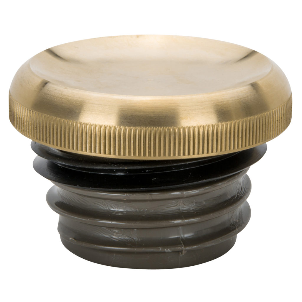 GG-04 Lowbrow Dished-Gas-Cap-brass
