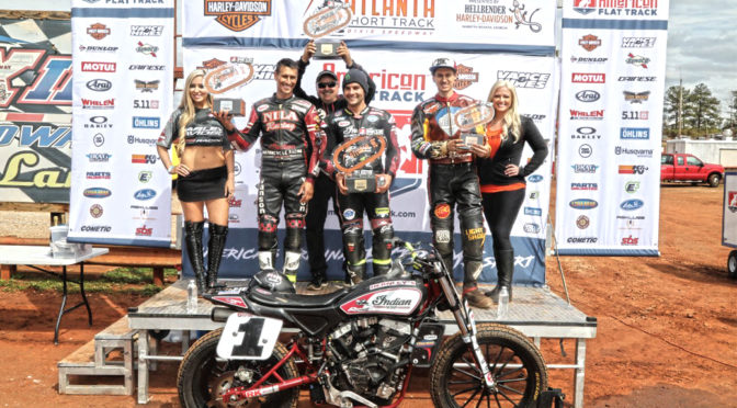 Indian Motorcycle Racing & Jared Mees repeat at Atlanta Short Track, capture back-to-back wins to start 2018 season