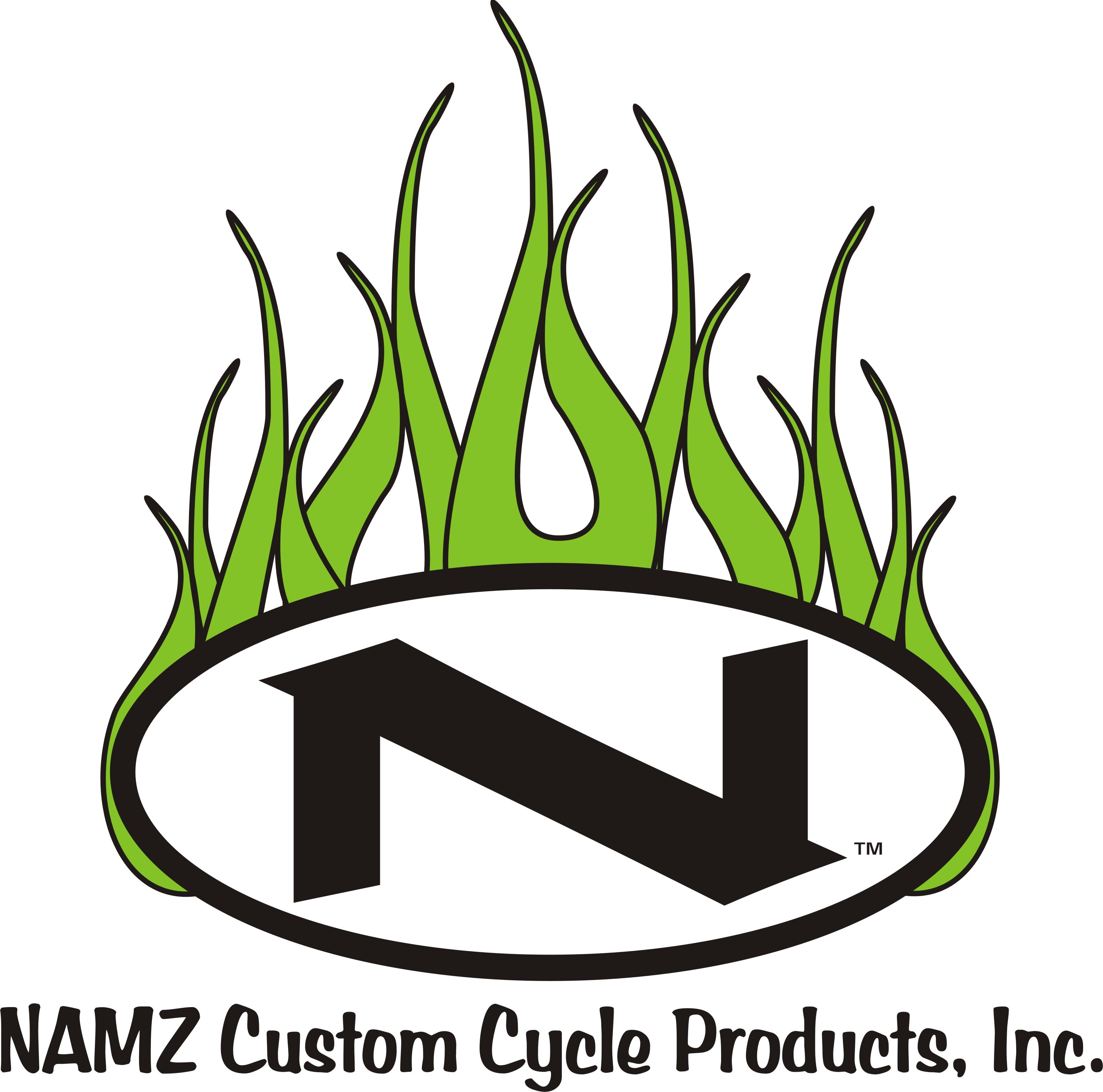 NAMZ 12x12 Flame Logo White