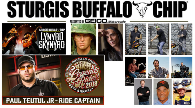 HOLLYWOOD, MOTOR SPORTS AND MOTORCYCLE CELEBRITIES  Coming Together for Two Legendary Sturgis Buffalo Chip CHARITY EVENTS