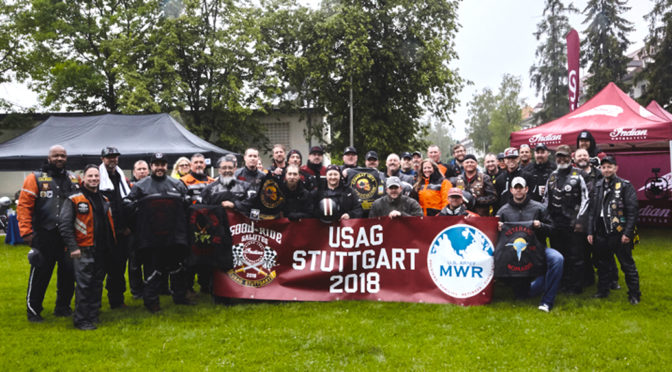 Good Ride Salutes Honors Military Overseas in Stuttgart, Germany with Indian Motorcycle Ride