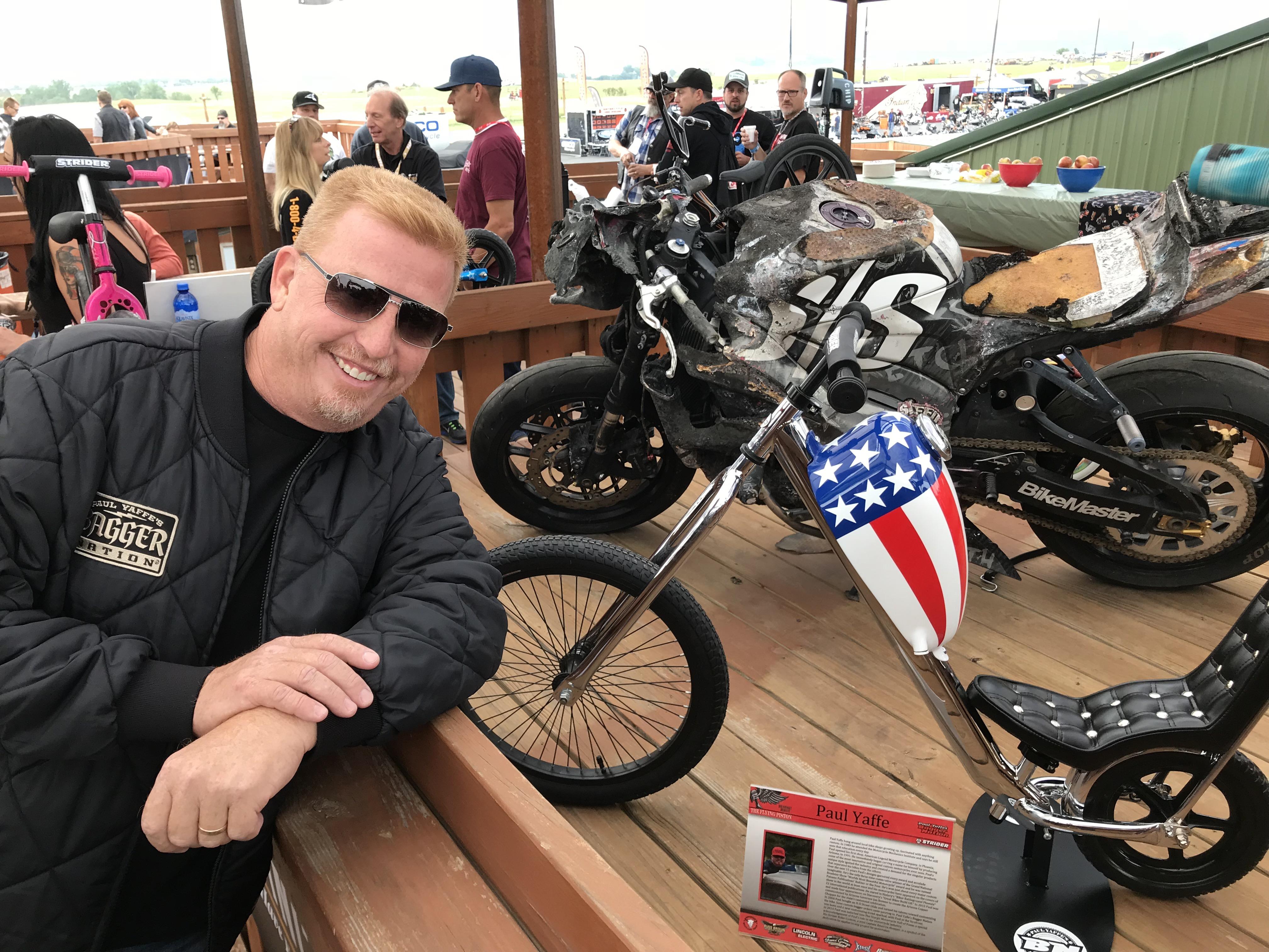 Paul w bike at Breakfast