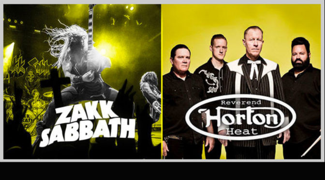 Zakk Sabbath & Reverend Horton Heat Day Pass Pre-Sale
