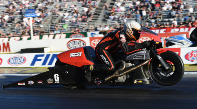 ANDREW HINES AND HARLEY-DAVIDSON WIN NHRA PRO STOCK MOTORCYCLE WORLD CHAMPIONSHIP